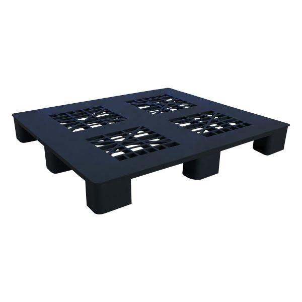 genel amaçlı plastik palet 100x100cm siyah kızaksız delikli