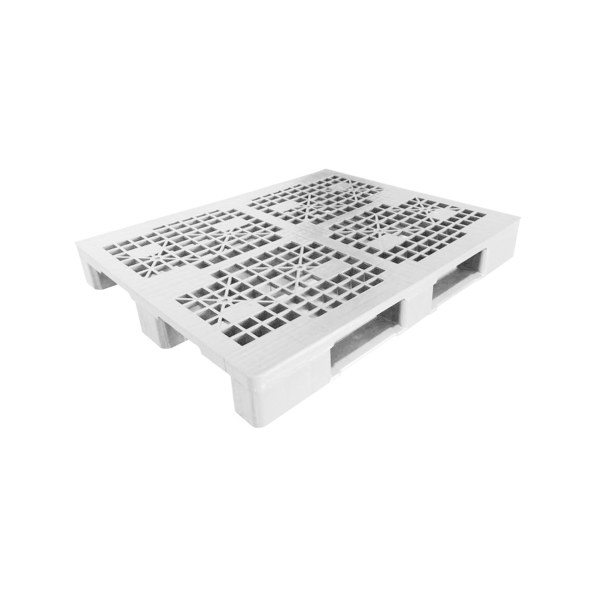 Hijyenik Plastik Palet yük paleti 100x120cm beyaz delikli kızaklı