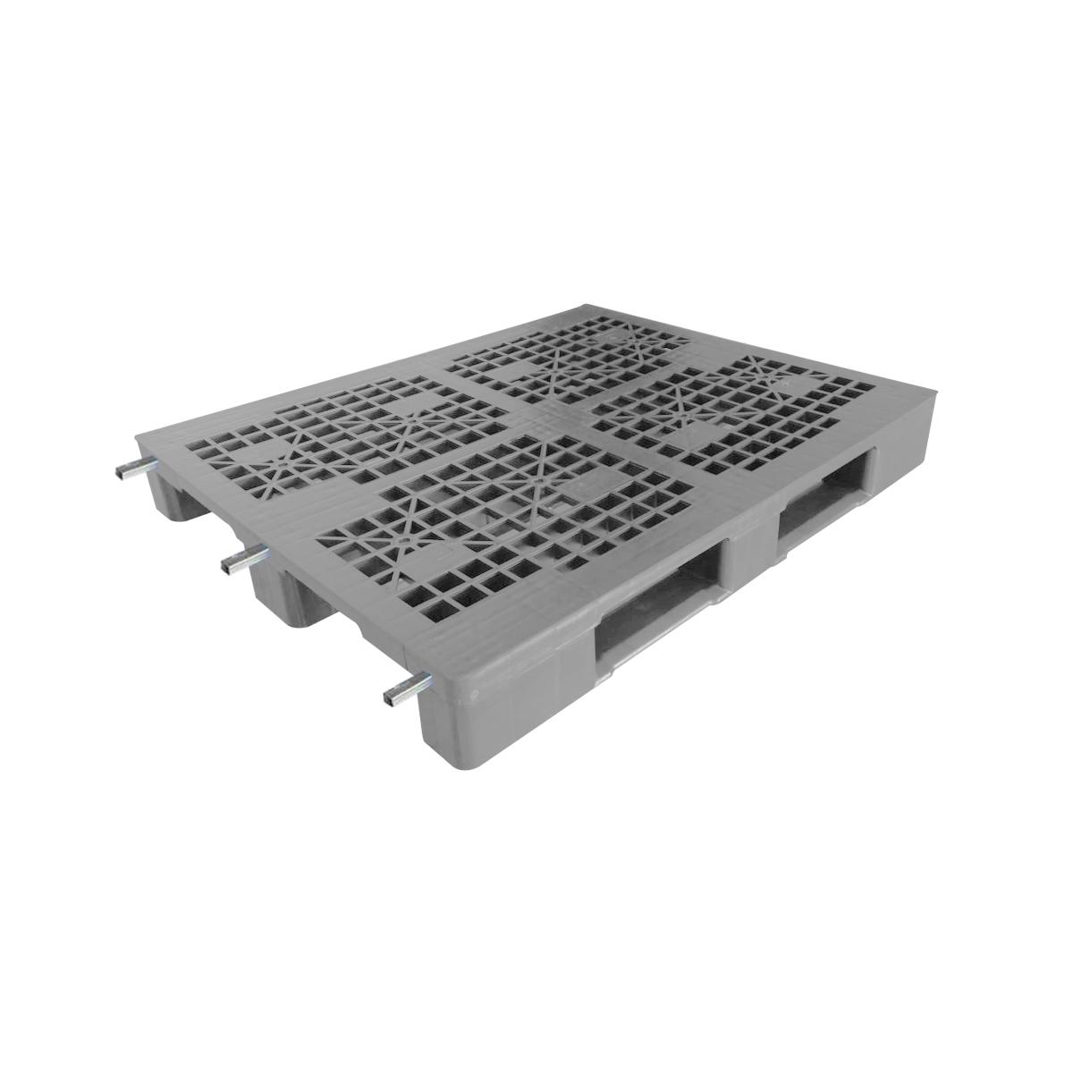 Profilli Yük Paleti 100x120cm gri delikli 3xprofilli