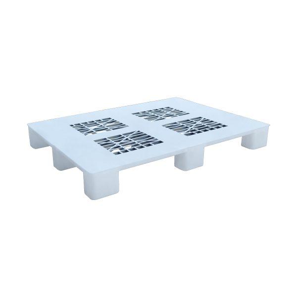 Hijyenik Plastik Palet 100x130cm beyaz delikli kızaksız