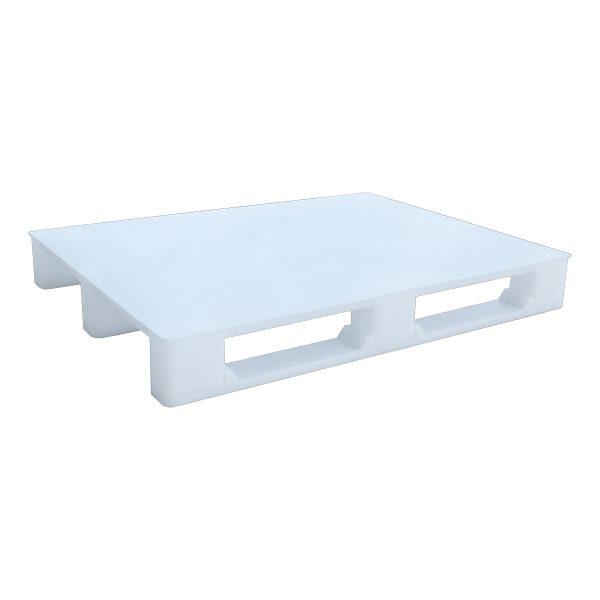 Hijyenik Plastik Palet 100x130cm beyaz kapalı kızaklı
