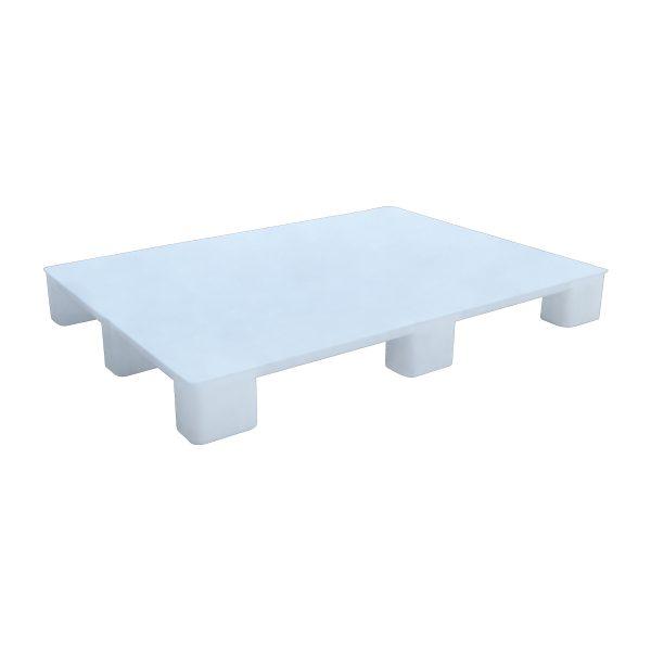 Hijyenik Plastik Palet 100x130cm beyaz kapalı kızaksız