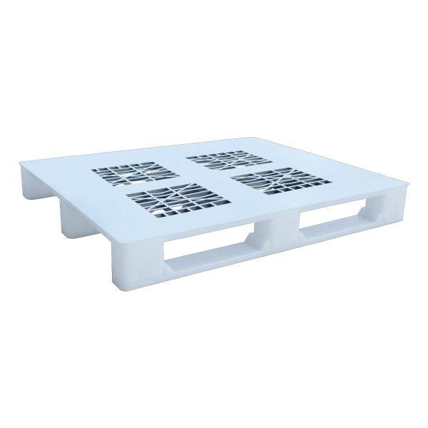 Hijyenik Plastik Palet 110x130cm beyaz delikli kızaklı