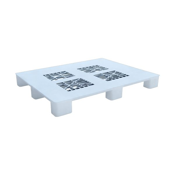 Hijyenik Plastik Palet 110x130cm beyaz delikli kızaksız