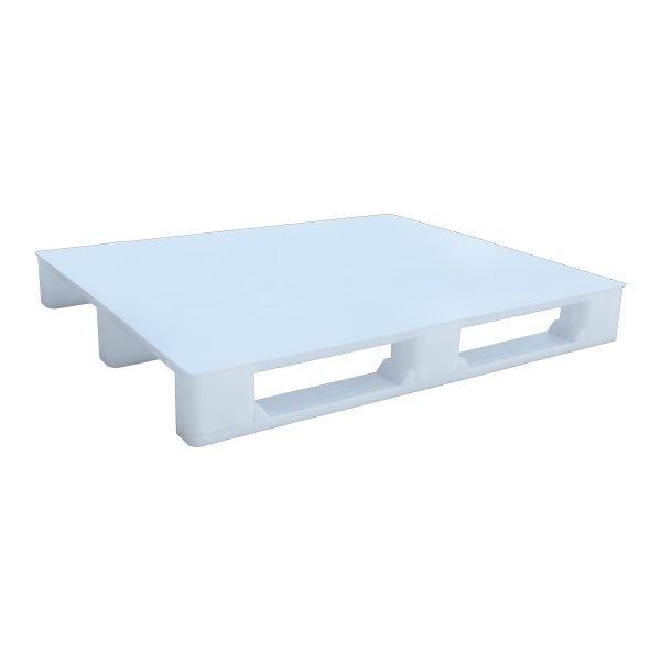 Hijyenik Plastik Palet 110x130cm beyaz kapalı kızaklı