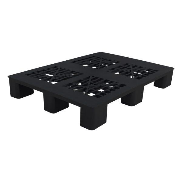genel amaçlı plastik palet 80x100cm siyah kızaksız delikli