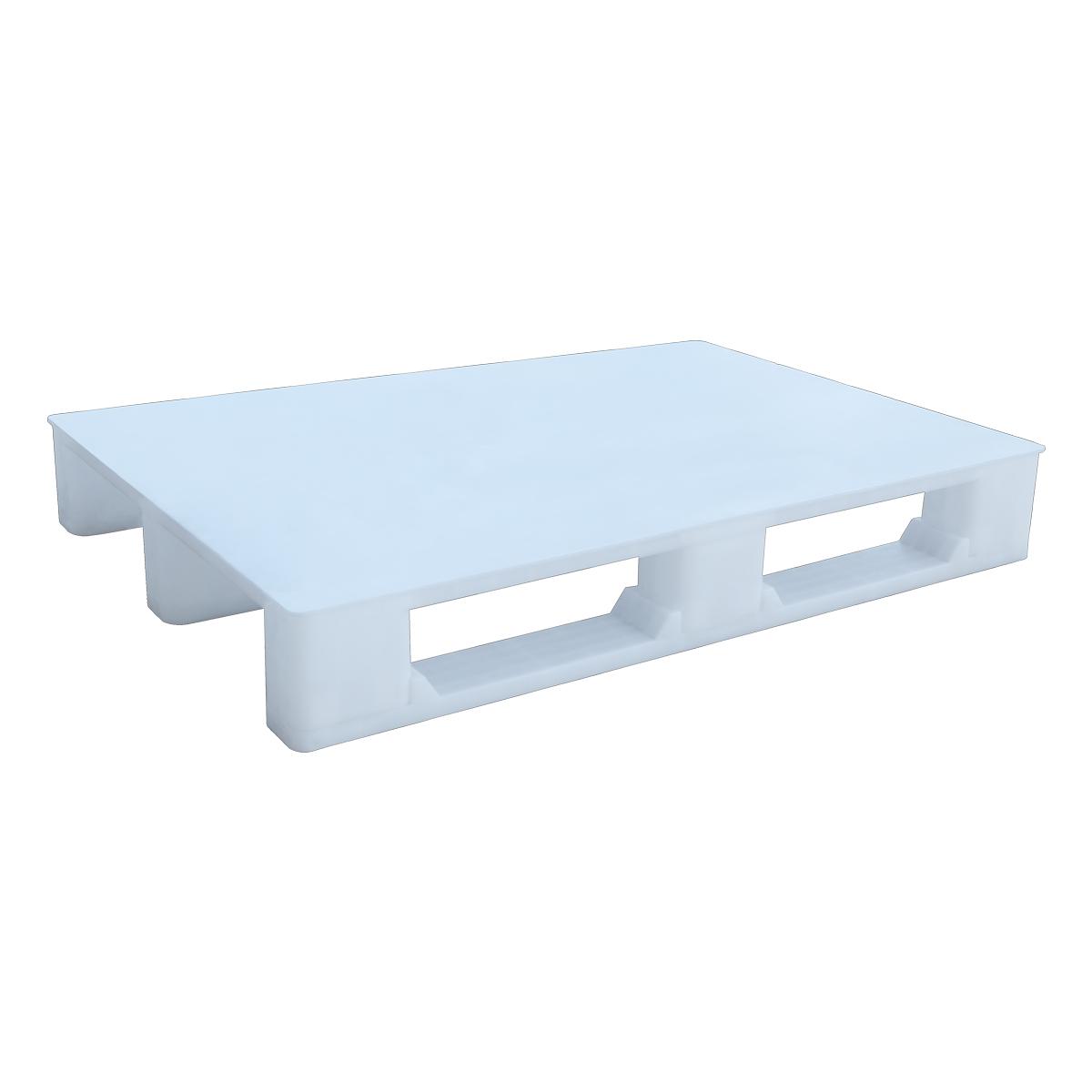 Hijyenik Plastik Palet 80x120cm beyaz kapalı kızaklı