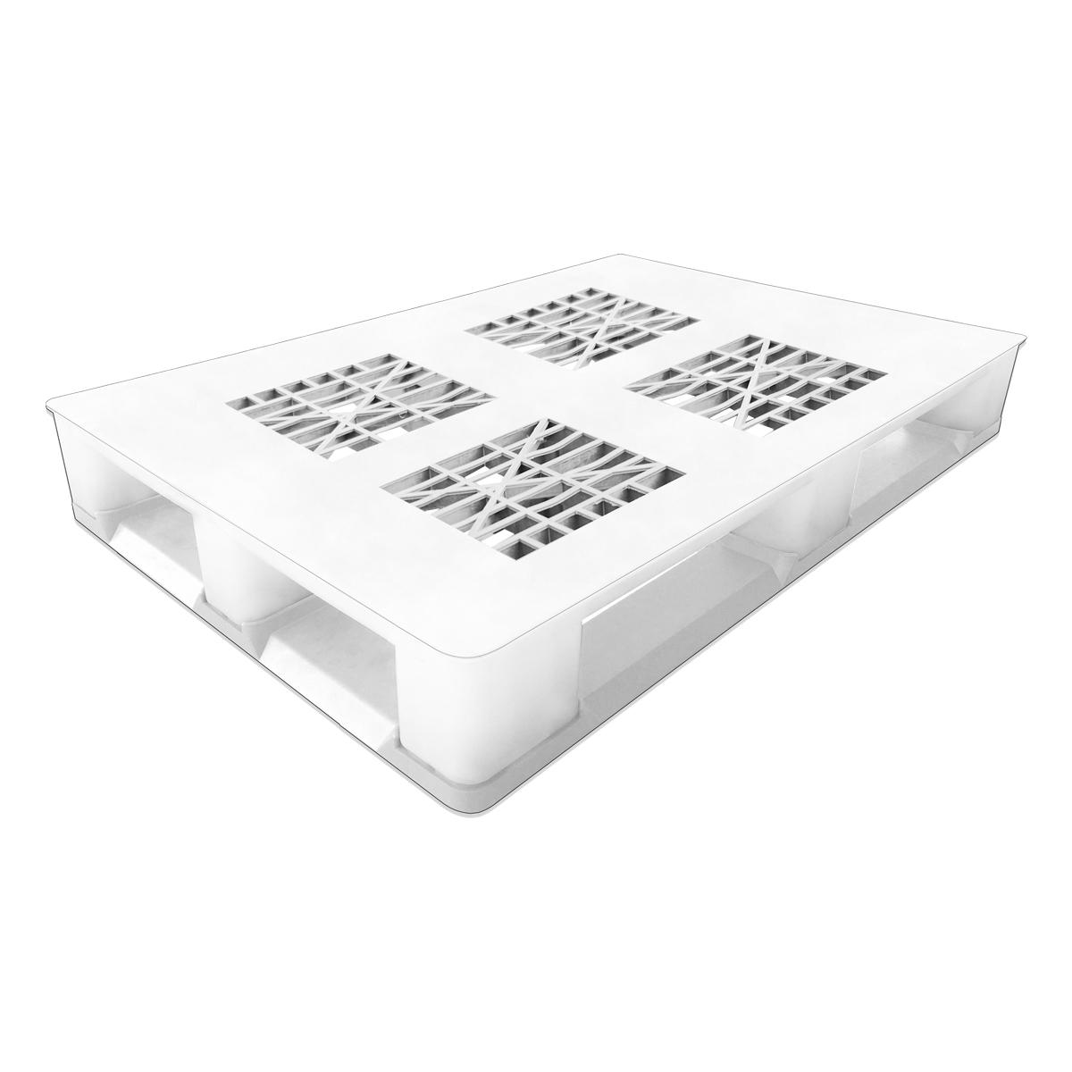 Hijyenik Plastik Palet h tipi 80x120cm beyaz delikli kızaklı