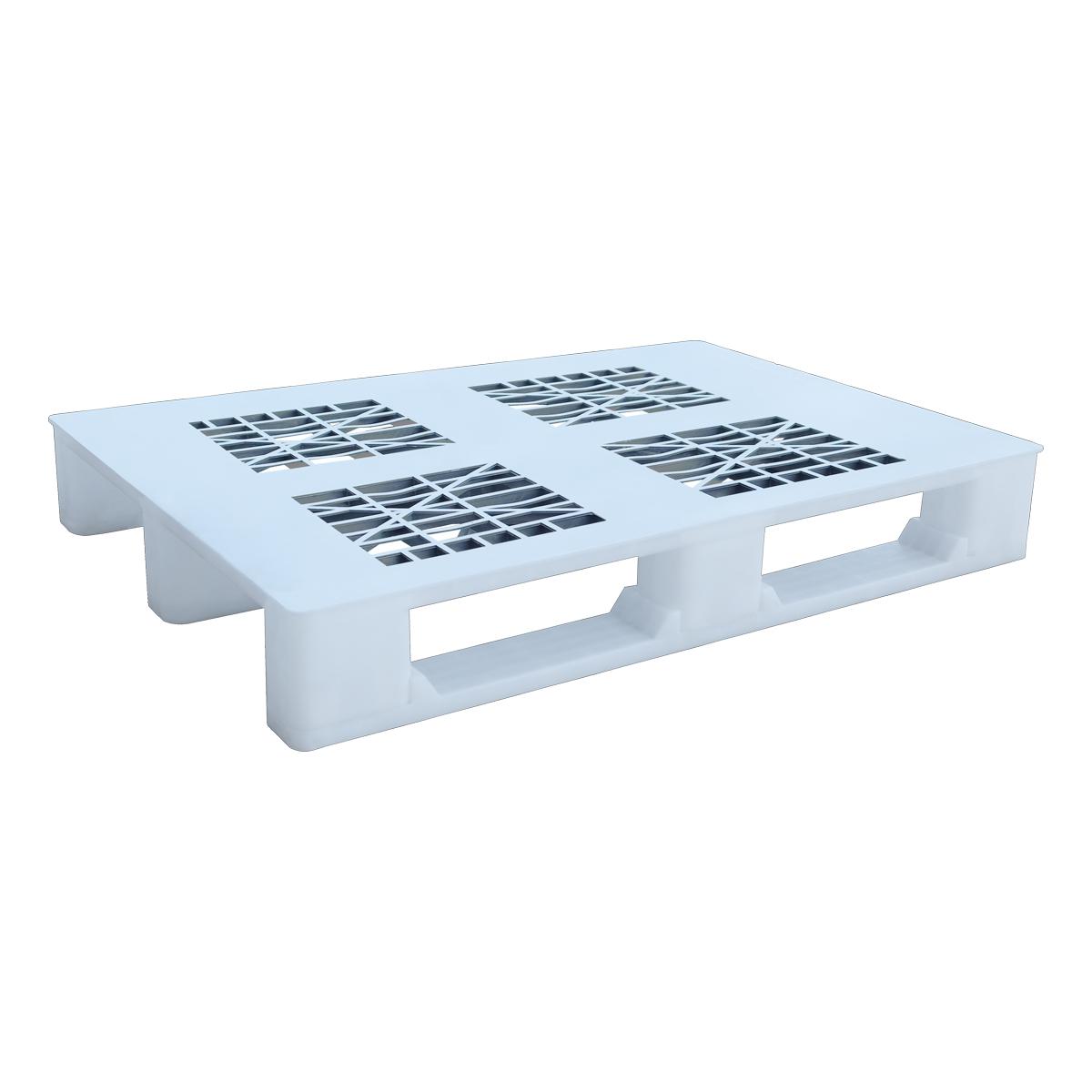 Hijyenik Plastik Palet 80x120cm beyaz delikli kızaklı