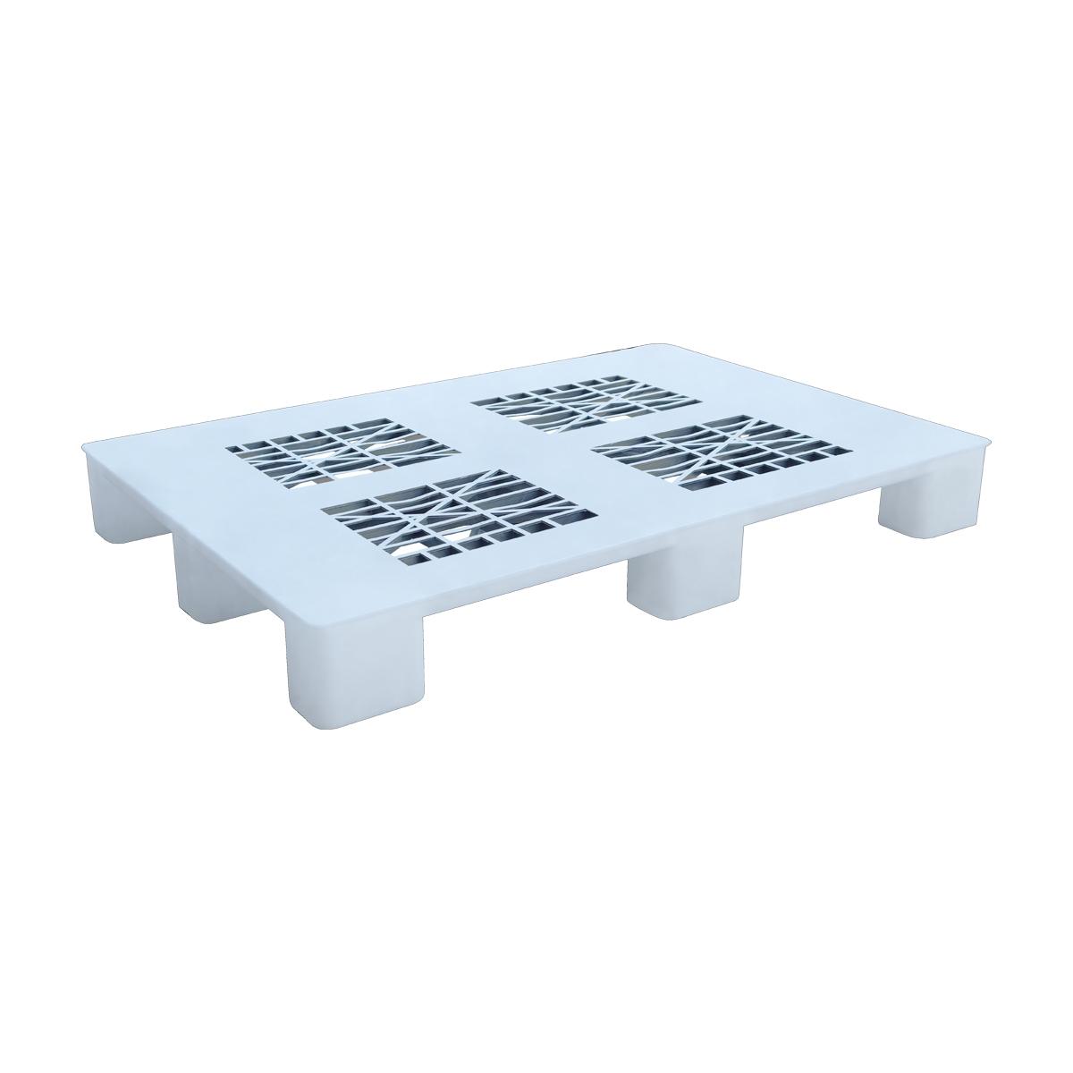 Hijyenik Plastik Palet 80x120cm beyaz delikli kızaksız