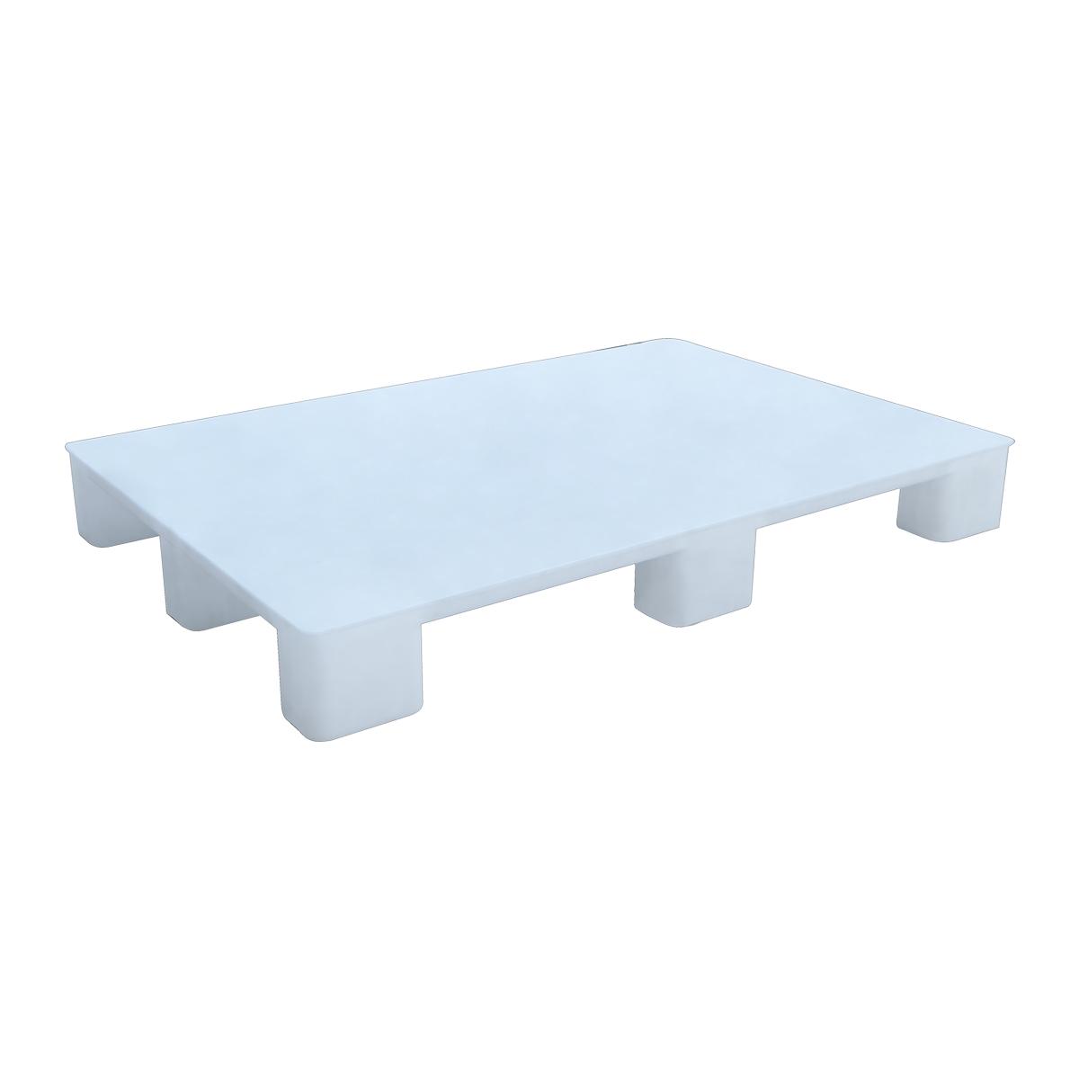 Hijyenik Plastik Palet 80x120cm beyaz kapalı kızaksız