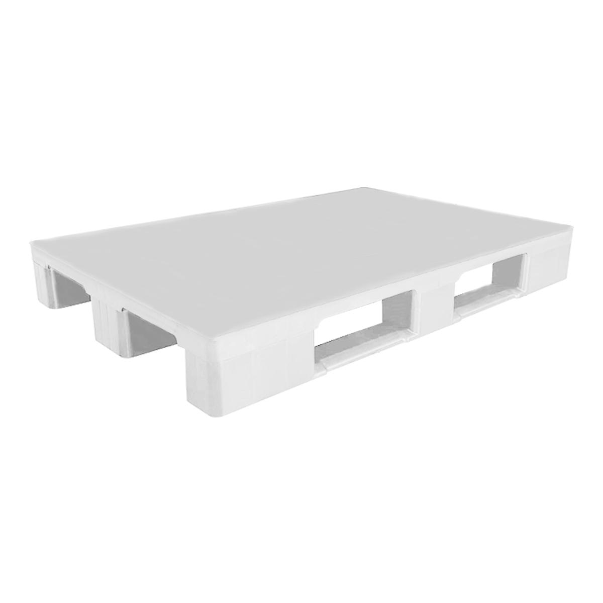 Hijyenik Plastik Palet yük paleti 80x120cm beyaz kapalı kızaklı