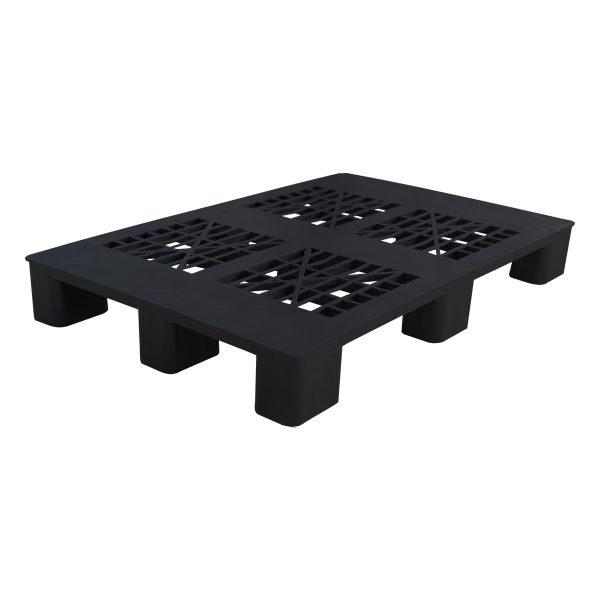 genel amaçlı plastik palet 80x120cm siyah kızaksız delikli