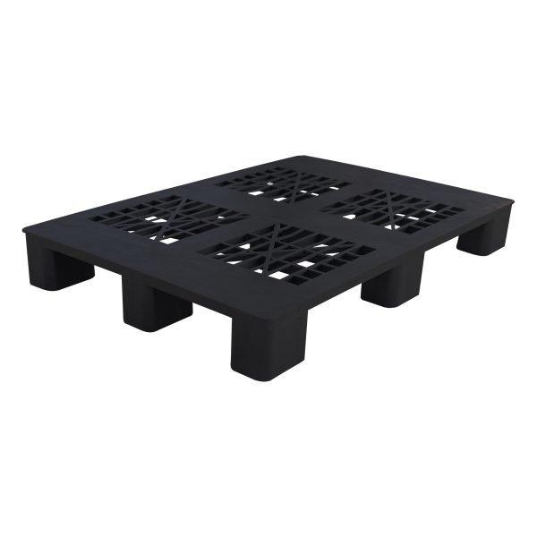 genel amaçlı plastik palet 90x120cm siyah kızaksız delikli