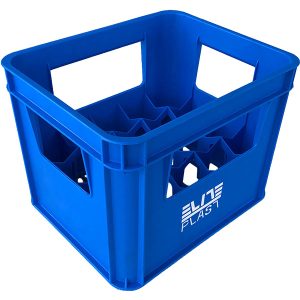 plastik seperatörlü içecek kasası 20'li 290x355x270mm mavi