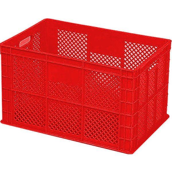 plastik kasa tabanı kapalı tip sanayi kasası 300x400x280mm kırmızı