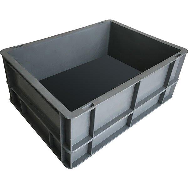 plastik kasa kapalı tip sanayi kasası 300x400x120mm gri