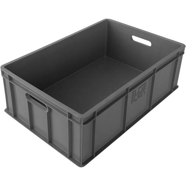 plastik kasa kapalı tip sanayi kasası 400x600x200mm gri