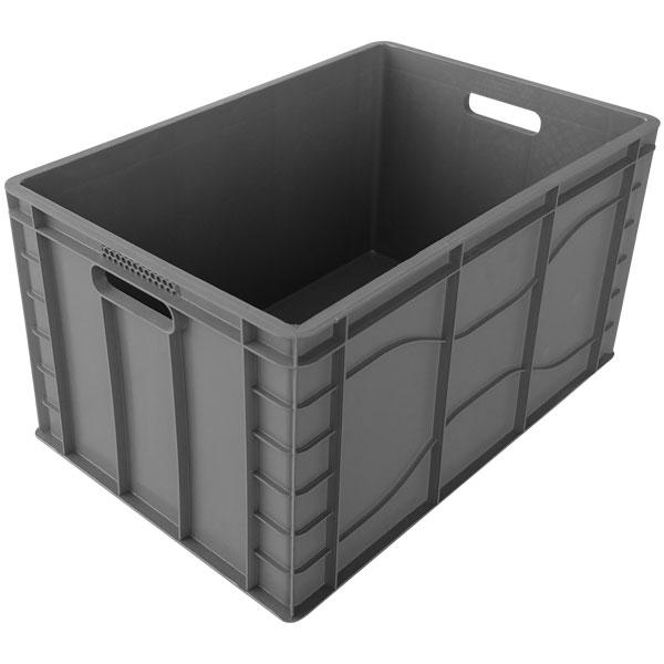 plastik kasa kapalı tip sanayi kasası 400x600x320mm gri
