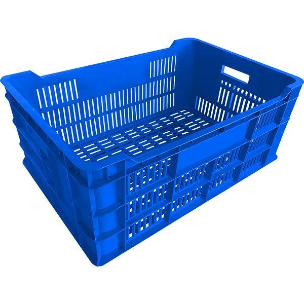 genel amaçlı plastik kasa delikli 420x620x260mm mavi