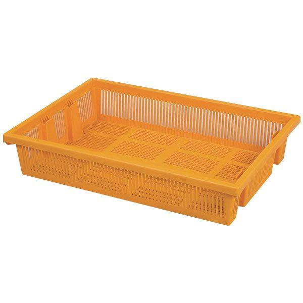 genel amaçlı plastik kasa delikli 470x670x130mm seperatörsüz sarı